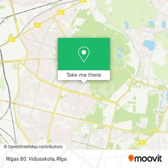 Rīgas 80. Vidusskola map