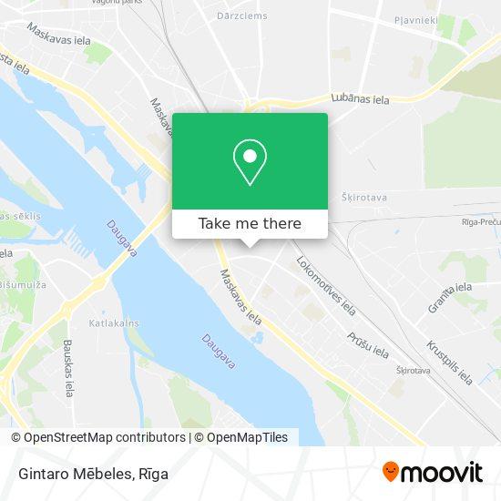 Gauja map