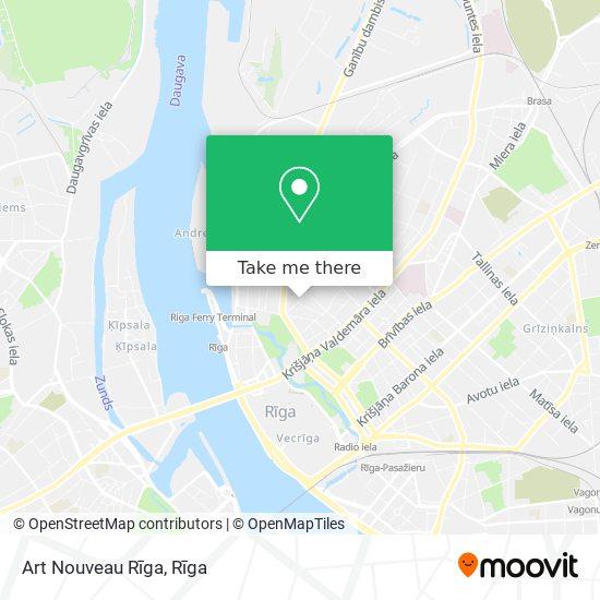 Art Nouveau Rīga map