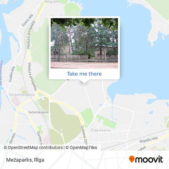 Mezaparks map