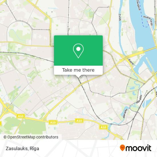 Zasulauks map