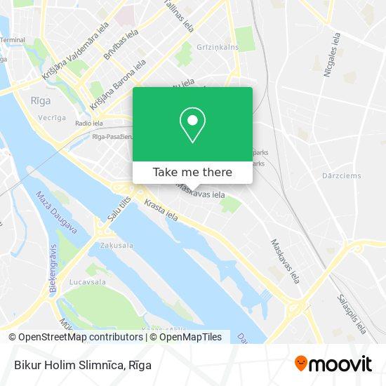 Bikur Holim Slimnīca map