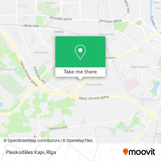 Pleskodāles Kapi map