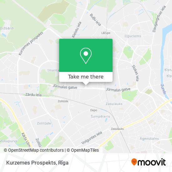 Kurzemes Prospekts map
