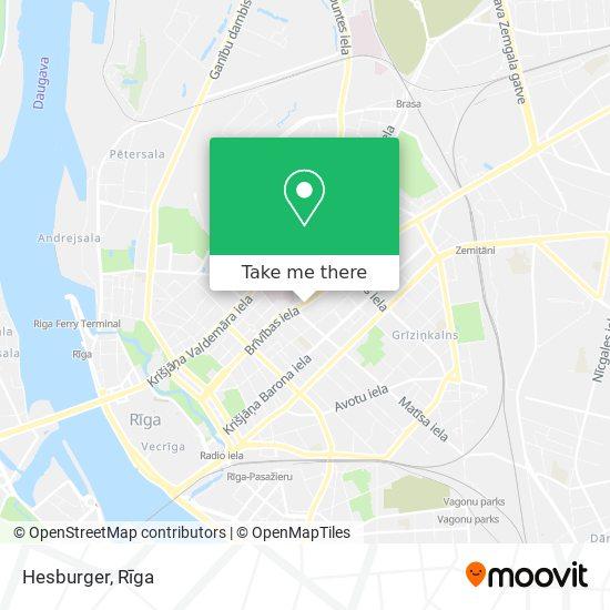 Hesburger Rīga Brīvības 90 map