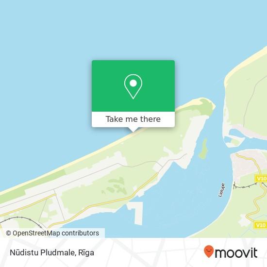 Nūdistu Pludmale map