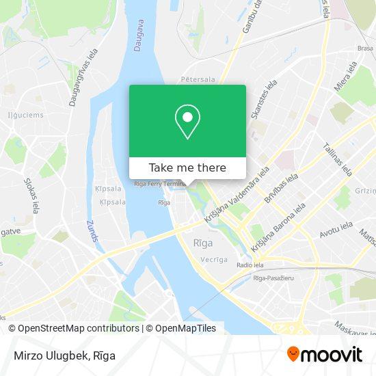 Mirzo Ulugbek map