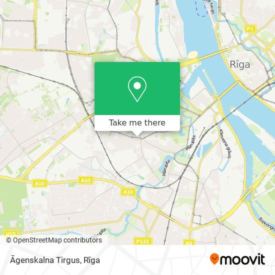 Āgenskalna Tirgus map