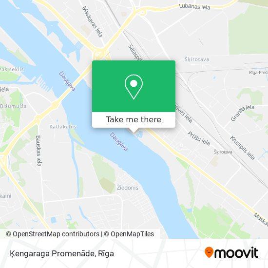 Ķengaraga Promenāde map