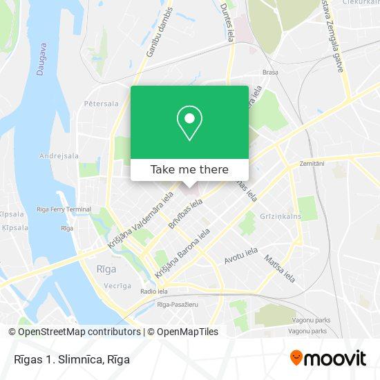 Rīgas 1. Slimnīca map