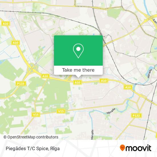 Piegādes T/C Spice map