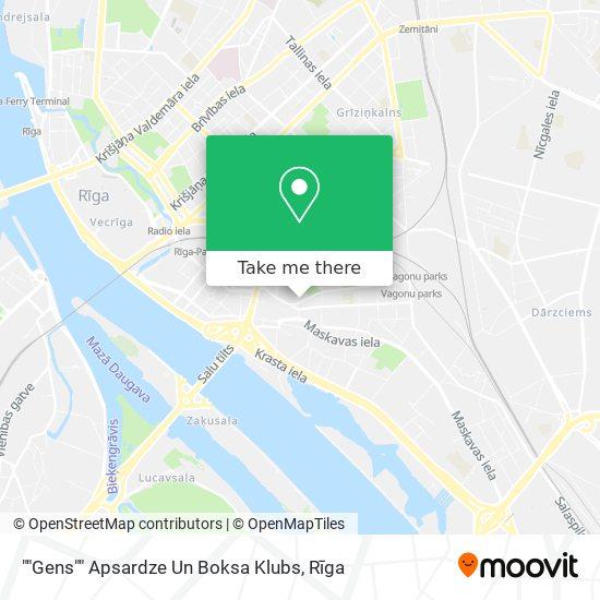 """""""Gens"""" Apsardze Un Boksa Klubs map"""