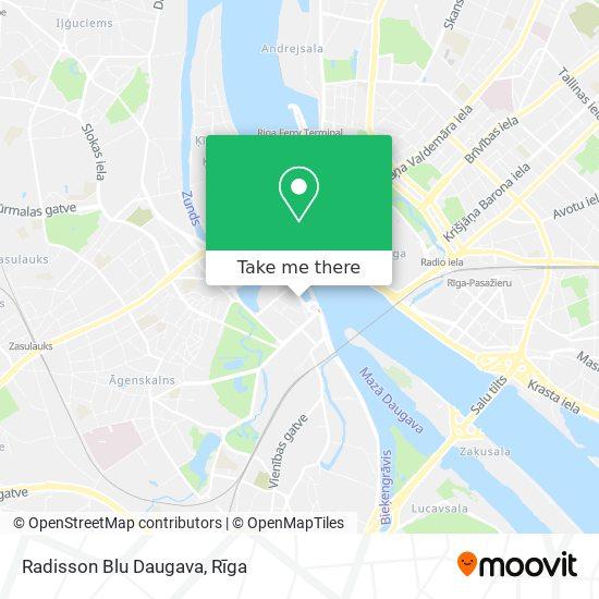 Radisson Blu Daugava map