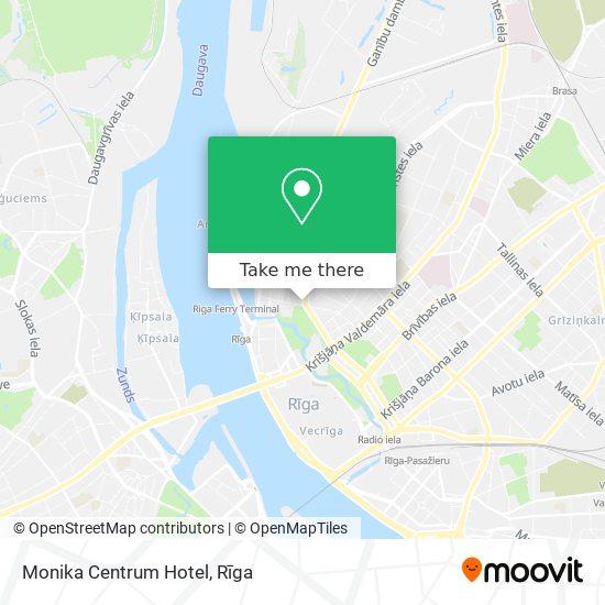 Monika Centrum Hotel map