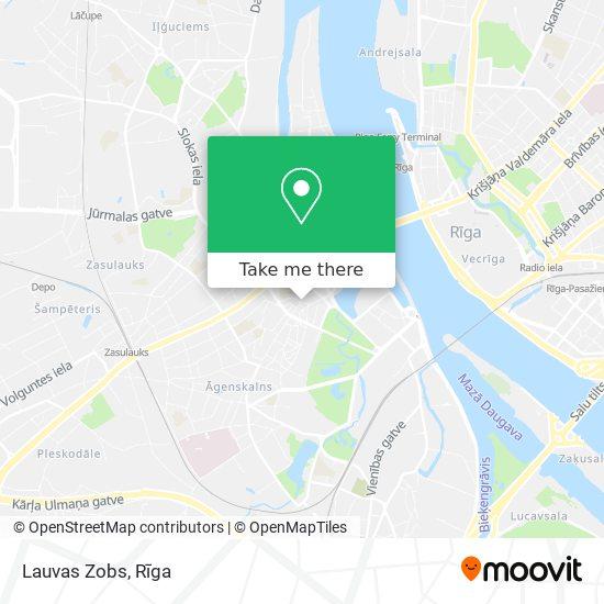 Lauvas Zobs map