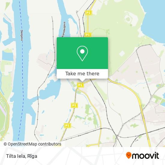 Tilta Iela map