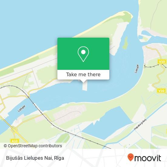 Карта Bijušās Lielupes Nai