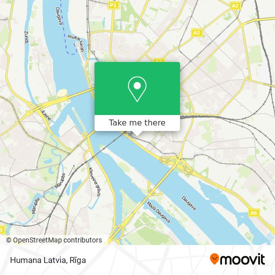 Humana Latvia map