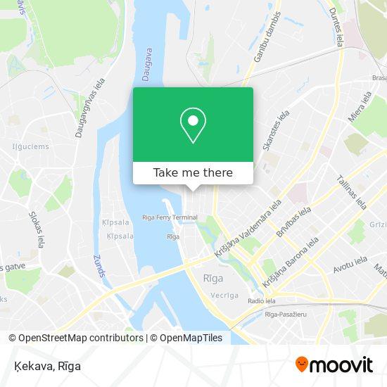 Ķekava map