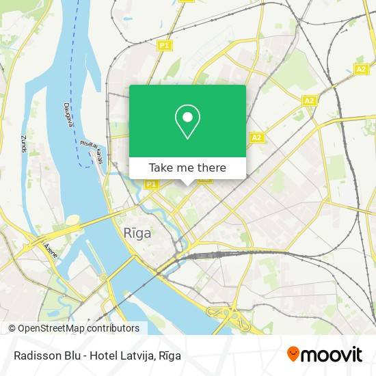 Radisson Blu - Hotel Latvija map