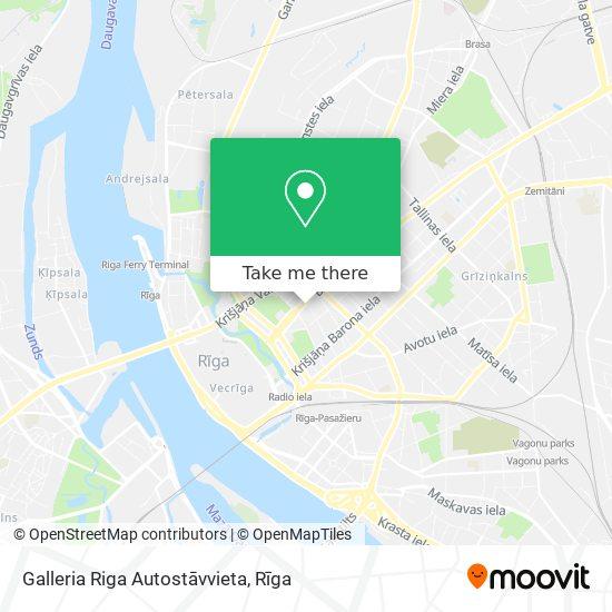 Galleria Riga Autostāvvieta map