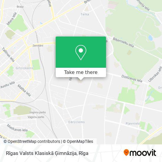 Rīgas Klasiskā Ģimnāzija map