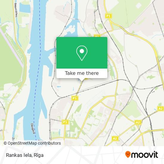 Rankas Iela map
