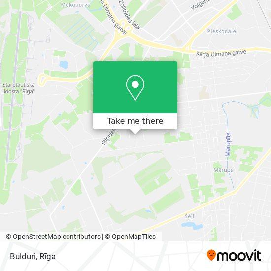 Bulduri map