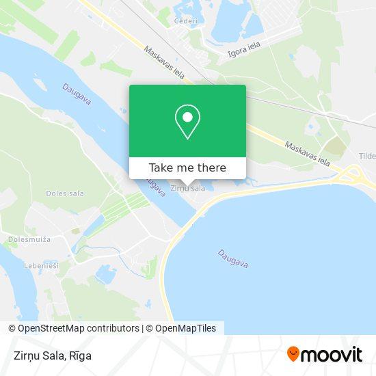 Zirņu Sala map