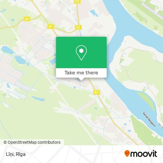 Карта Līņi
