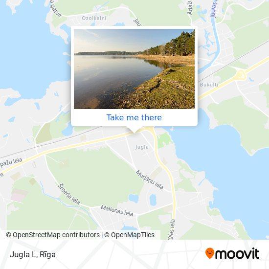 Jugla L map
