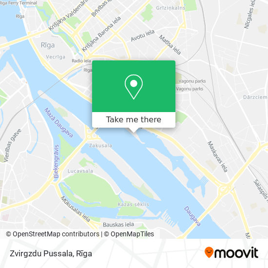 Zvirgzdu Pussala map