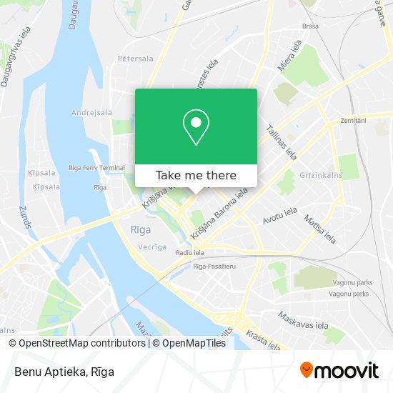 Benu Aptieka map