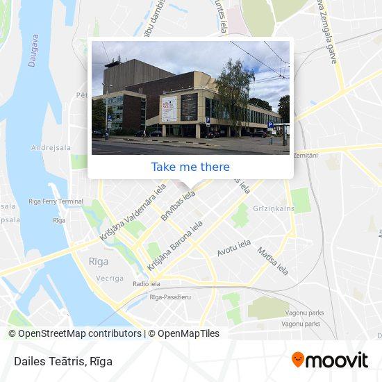 Dailes Teātris map