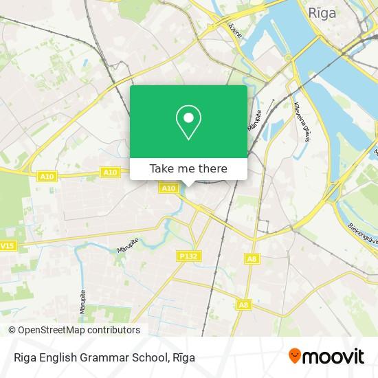 Riga English Grammar School map