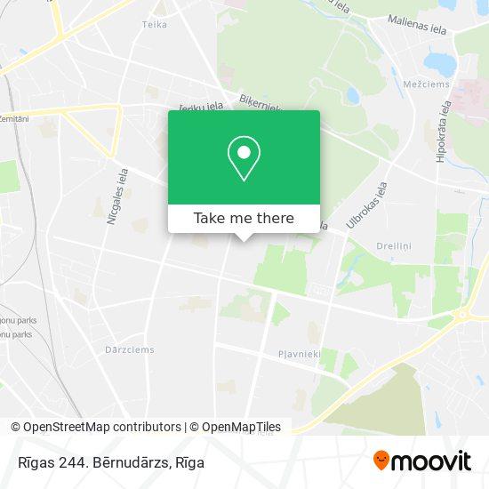 Rīgas 244. Bērnudārzs map