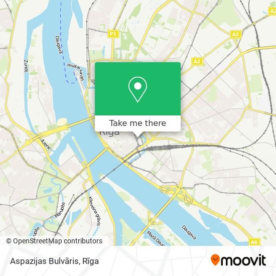 Aspazijas Bulvāris map
