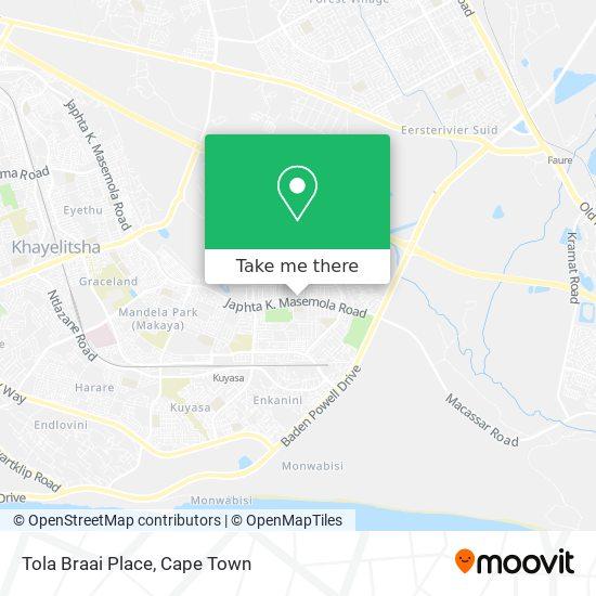 Tola Braai Place map