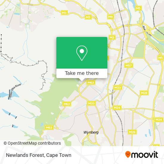 Newlands Forest map