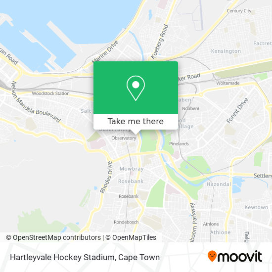 Hartleyvale Hockey Stadium map