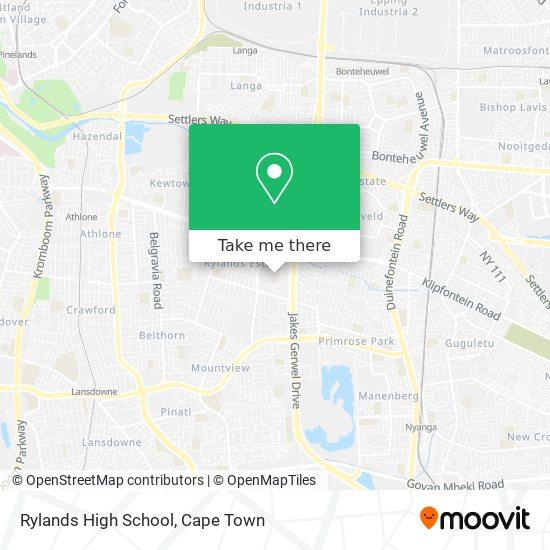 Rylands High School map