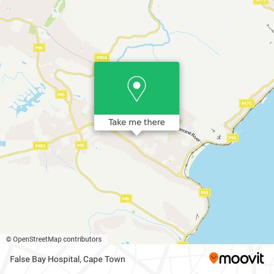 False Bay Hospital map