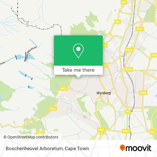 Boschenheuvel Arboretum map