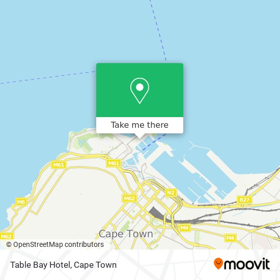 Table Bay Hotel map