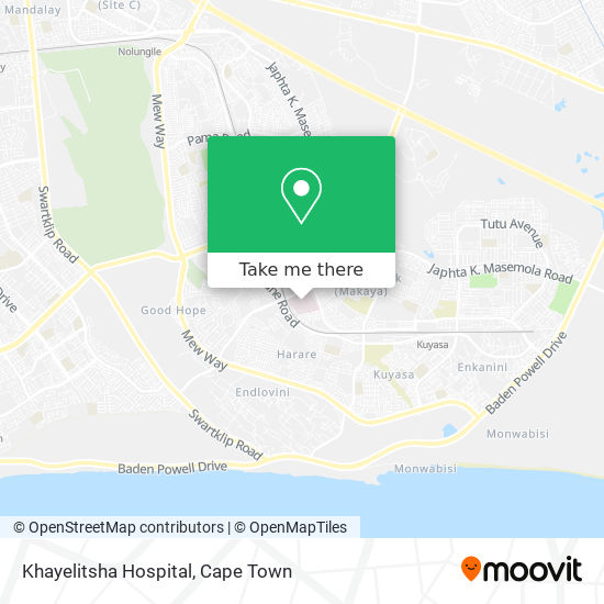 Khayelitsha Hospital map