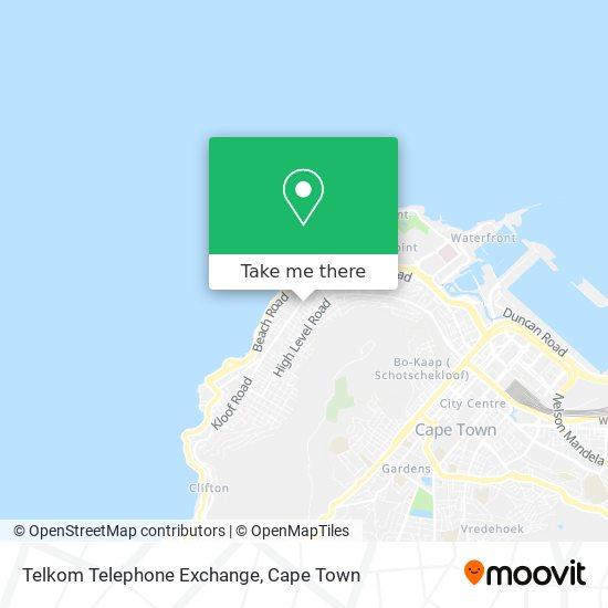Telkom Telephone Exchange map
