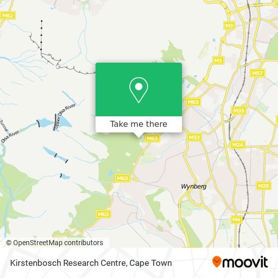 Kirstenbosch Research Centre map