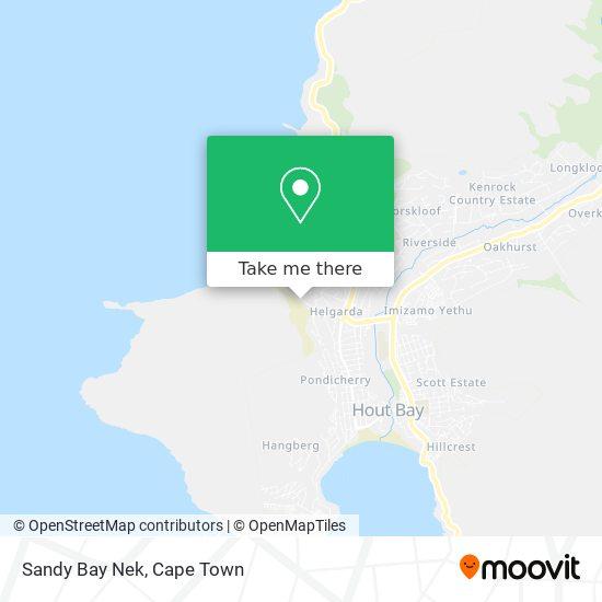 Sandy Bay Nek map
