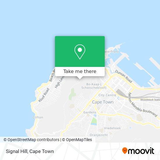 Signal Hill map