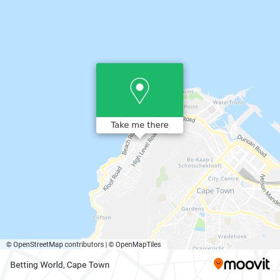 Betting World map